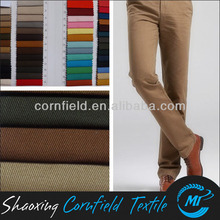 top grade 100% cotton twill fabric for upscale casual pants and working clothing