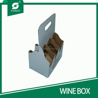 STANDARD SIZE WHITE CORRUGATED 6 PACK BEER BOTTLE CARRIERS WITH CUSTOM LOGO