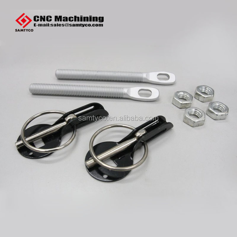 car bonnet hood pin lock kit down lock pins fit all racing aluminum alloy auto lathing