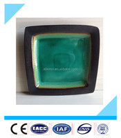 10.5'' cheap square ceramic restaurant plates, special design China bulk ceramic dinner plates.