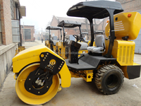 Soil Compactor 3Ton Single Drum Vibratory Road Roller For Road / Building construction