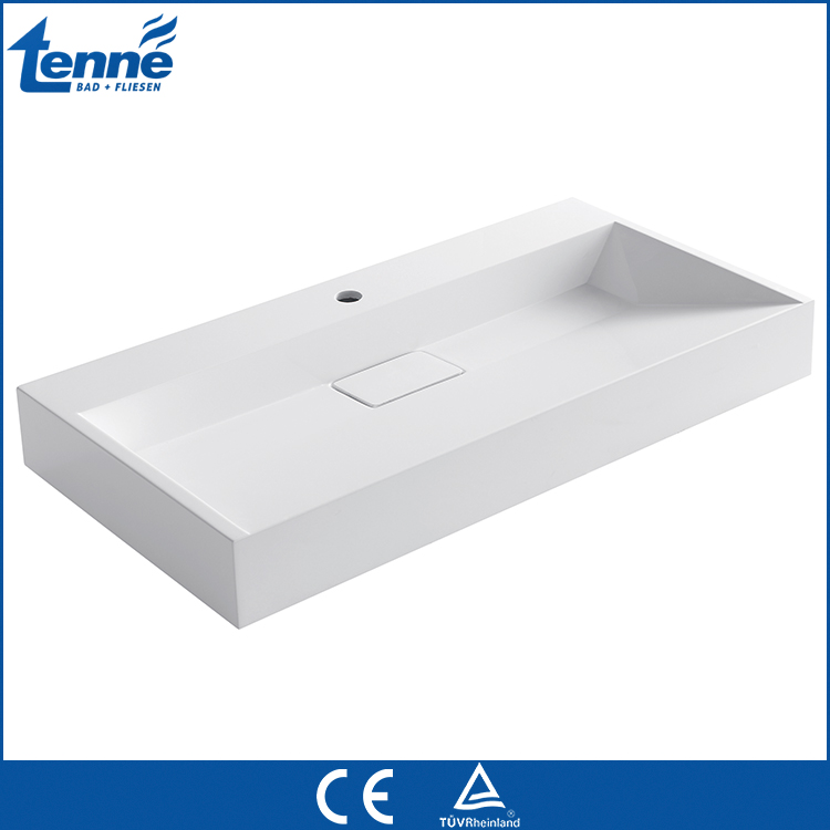 Good Quality bathroom solid surface hung washing freestanding basin