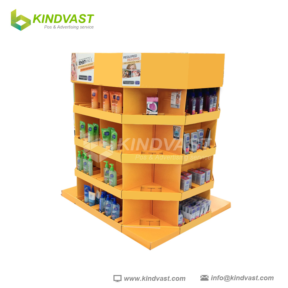 Cardboard Pallet Display For Cosmetic Promotion