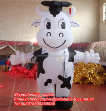 Inflatable Advertising Walking Cow Mascot Costume