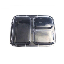 Disposable Airline Pp Disposable Microwave Meal Prep Containers 3-Compartment Food Container