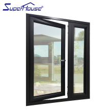 China made aluminum french casement window with fixed panel