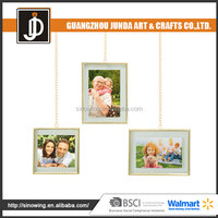2016 New Design Chain Silver Plated 3 Pack Sets Picture Frame