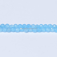 2mm 3mm Dyed Light Blue Jade Beads Wholesale Faceted Jade Beads
