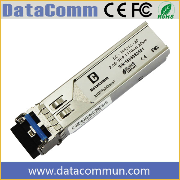 Telecom Industrial Quality Factory Supply 2.5g SFP 1310 Optical Transmitter