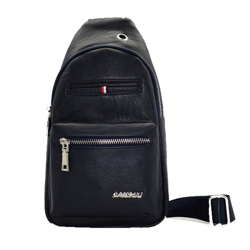 Top quality popular Europe style Man PU leather bagpack
