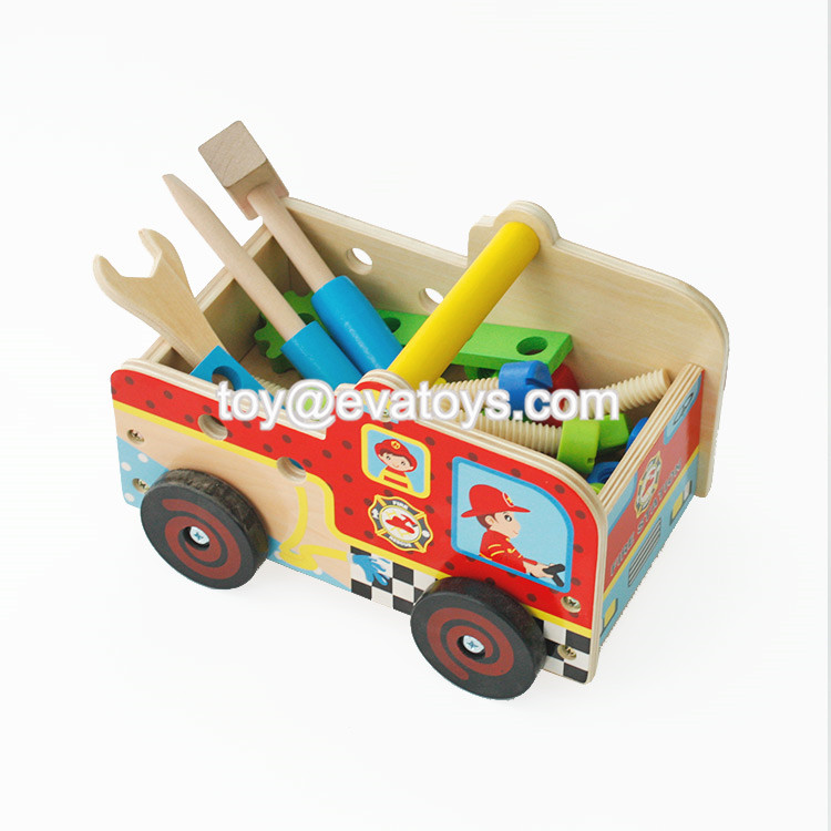 New arrived multi-functional play wooden toy tool set for kids W03D089