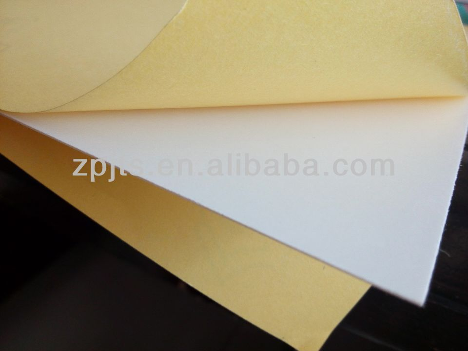 0.3mm self-adhesive rigid paper top pvc board for album