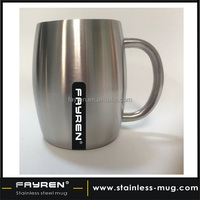 stainless coffee mug 16OZ Double wall stainless steel beer mug