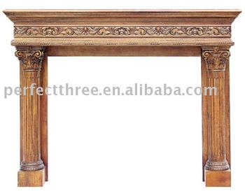 Fireplace Mantel-PT8015 Classic Hand Carved Fireplace Mantel