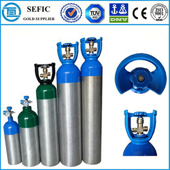aluminum gas cylinder 20Lsize medical oxygen