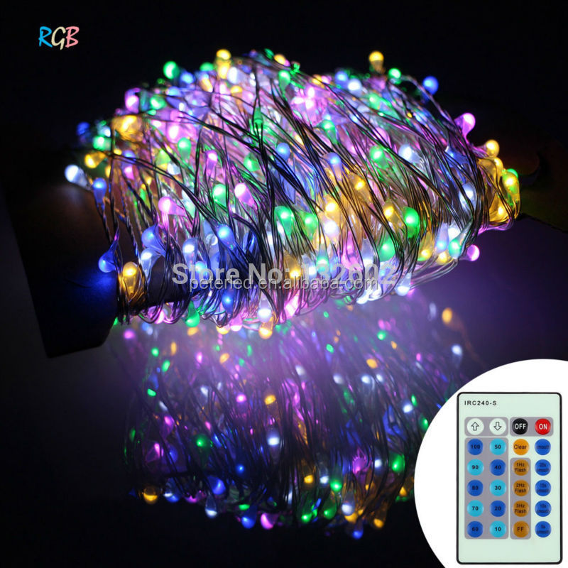 LED Battery String Lights 8function battery box with remote controller