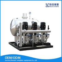 Constant pressure large scale building water supply purification system