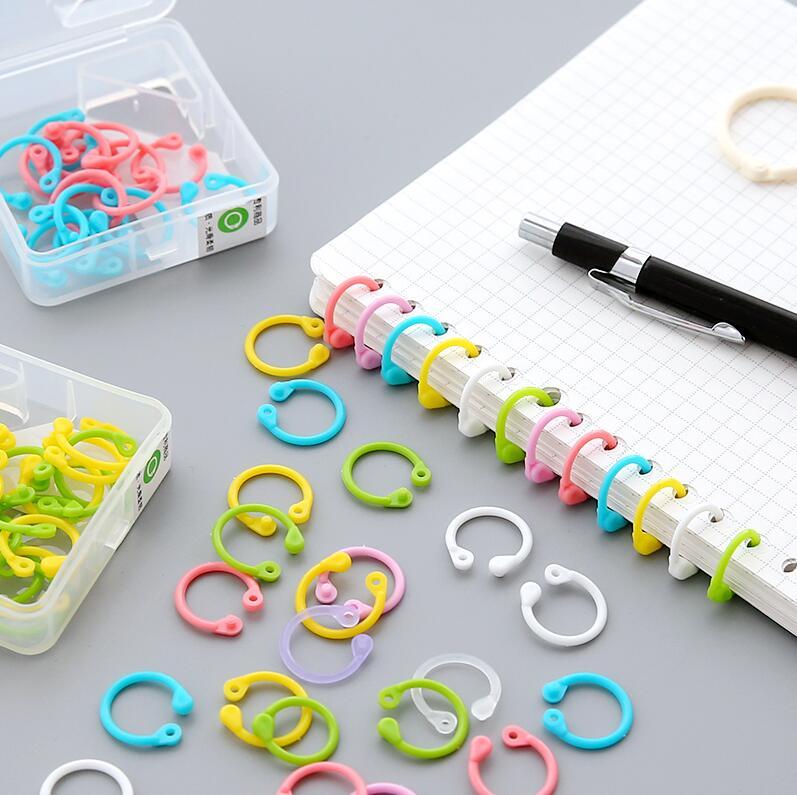 1 caja de color lindo coreano fácil anillo libro de papel Carpeta de ...