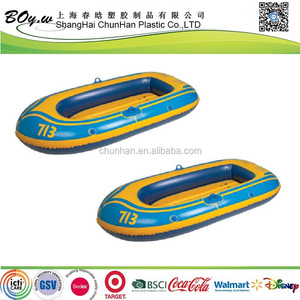 ATSM factory eco-friendly LOGO printing heavy duty single promotional inflatable pvc boat