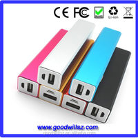 Colorful 2600mah power bank external battery charger for mobile phone
