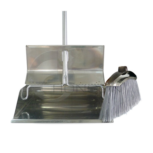 Cleaning Tools Stainless Steel Dustpan and Brooms Set