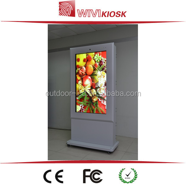 "65"" full hd wifi lcd touch screen photo booth kiosk information kiosk/payment kiosk"