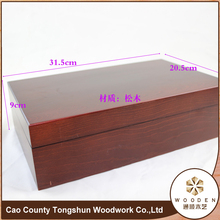 Mytest Unfinished Wooden Storage Packaging Gift Box For Tea