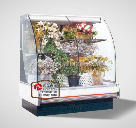 12YH Horizontal freezer dispaly showcase cabinet for flower (with arc curved glass door)