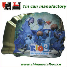 famous cartoon movie metal tin boxes/gift tin box/tin can manufacturer