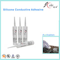 Heat resistant silicone adhesive for electron component