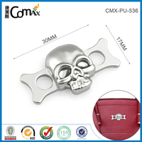 Luxury custom handbag and clothing metal skull logo