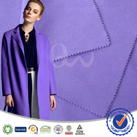 Brushed fabric for women winter coat overcoat purple 100% polyester dyed plain brushed fabric