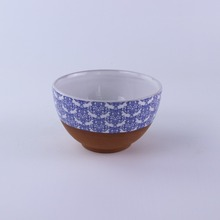 custom printed chinese Terracotta stoneware ceramic bowls