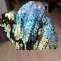 Wholesale lager natural labradorite slice quartz crystal for sale