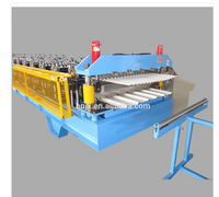 High speed with ISO standard used china sheet metal roofing shingles double layer roll forming machine