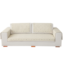 Cotten woven embroider distinctive white protective covers for sofa arms