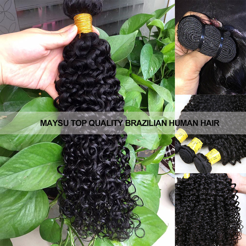 Maysu unprocessed cheap Remy hair Weft deep wave virgin brazilian human hair <strong>weave</strong> for Black Women