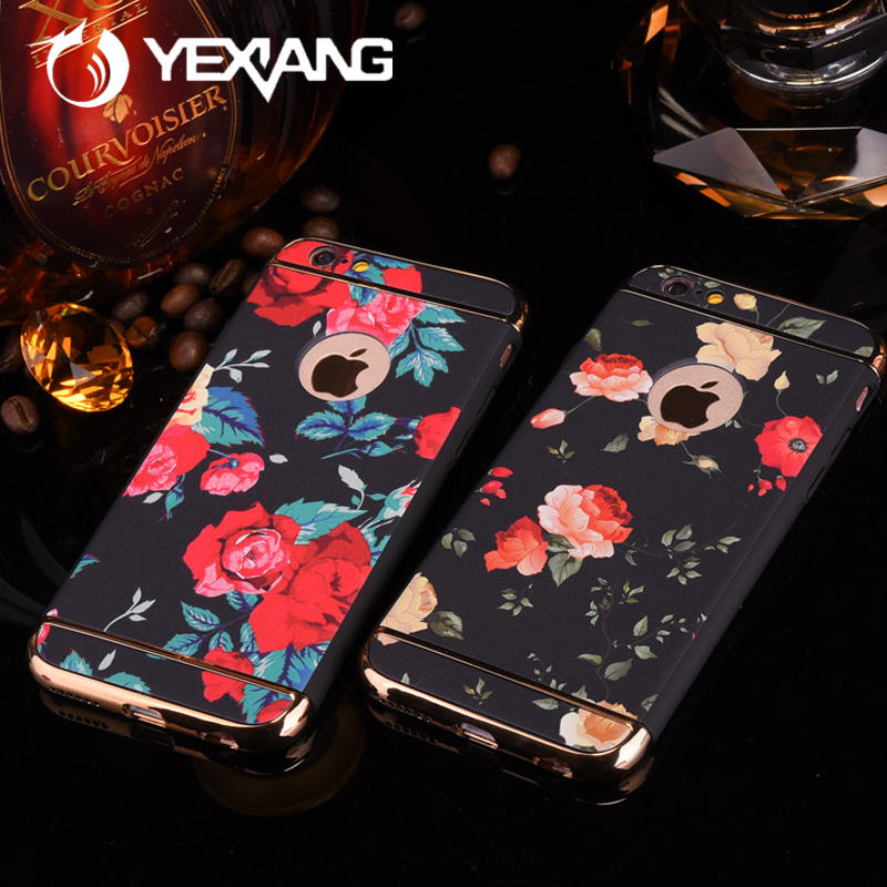 Factory UV Design Custom Print Hard Plastic Phone Case For Iphone 7 Electroplating Case