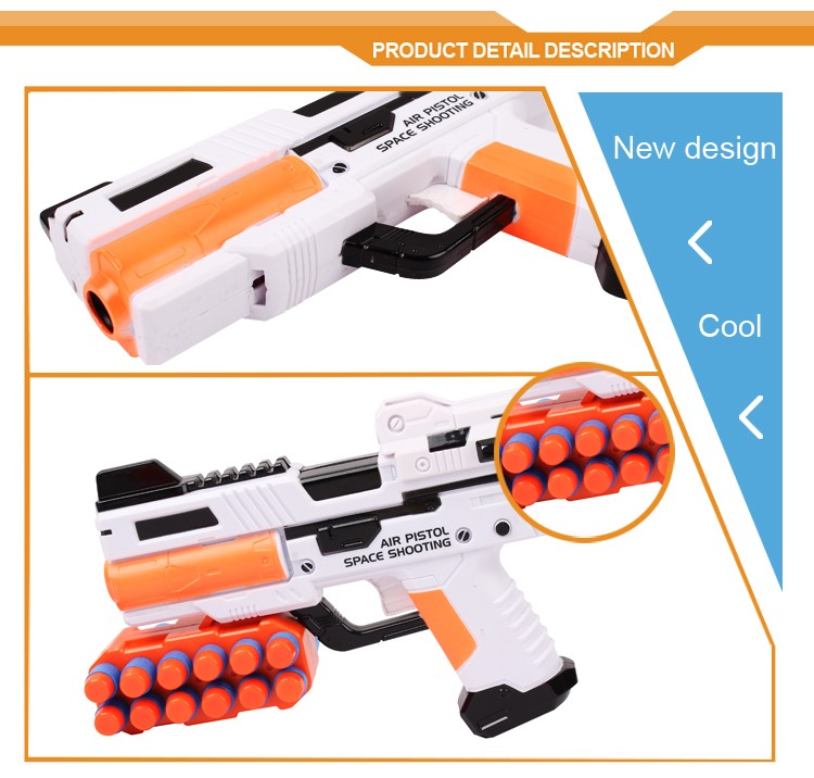 New style plastic shoot game suspended flying ball pistol toy gun foam bullets