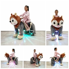Coin operated battery power wheels ride on animal for mall
