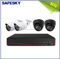 4Ch cheap HD p2p qualified IP wifi camera recording System cctv nvr kits