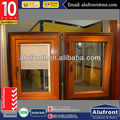 Aluminium And Wood Cladding Swing Window With Bulit-in Blinds
