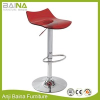 Acrylic high swivel crystal chair metal base