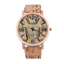 Latest design bamboo wood watch colorful leisure bamboo watch