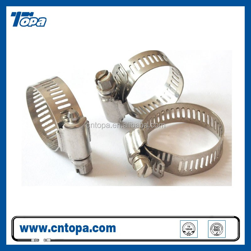 Stainless steel telescoping tube american hose clamp