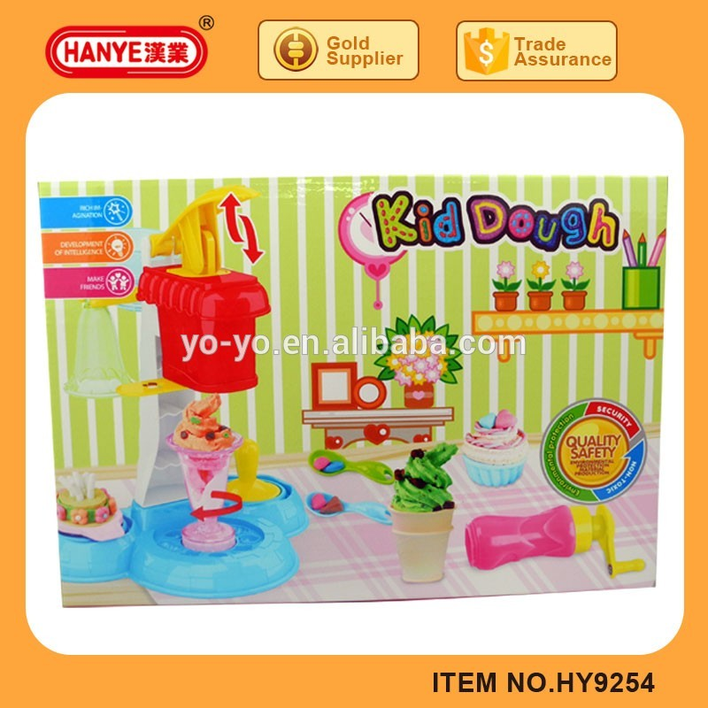 HY9254 2017 Best Sell Funny Ice Cream Colorful Play Dough Set