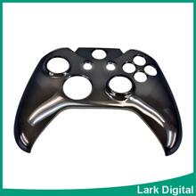 Crystal Clear Plastic Front Face Cover Shell Protector for Xbox One Controller(Black)