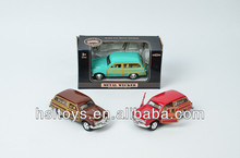 New Listed! 1:32 pull back function metal old toy car models