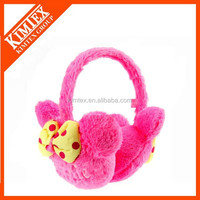 Winter fashion floral custom children earflap ear muff,warm ear muffs for girls