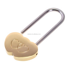 2017 Best selling Solid Brass Love Lock Double Heart Padlock, wish padlock